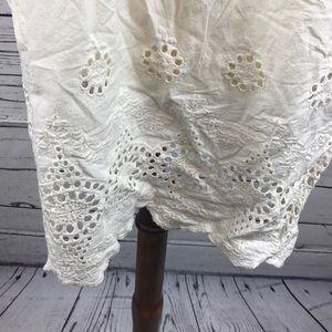 Dresses - Crochet Off White Strapless Dress